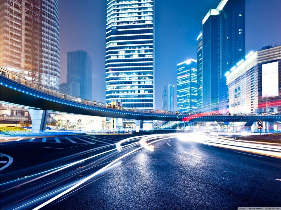 Streets night people cities wallpaper