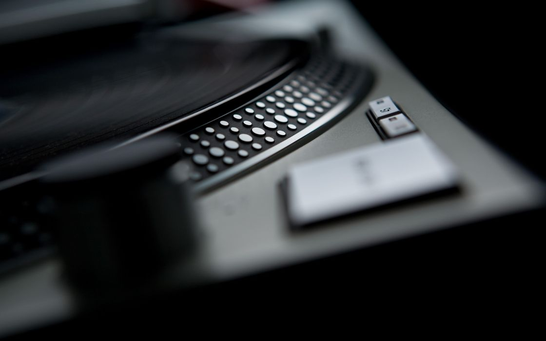 Black music artistic studio vinyl techno turntables technics dj  wallpaper