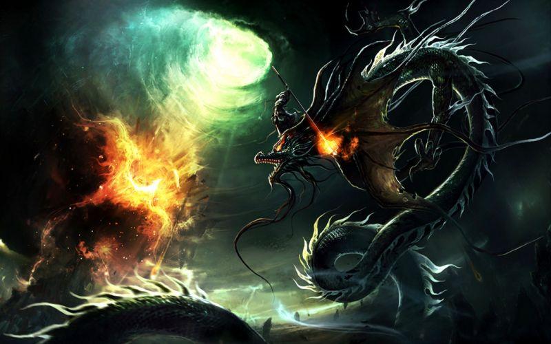 Dragons fire destruction legendary end dragon legendary dragon wallpaper