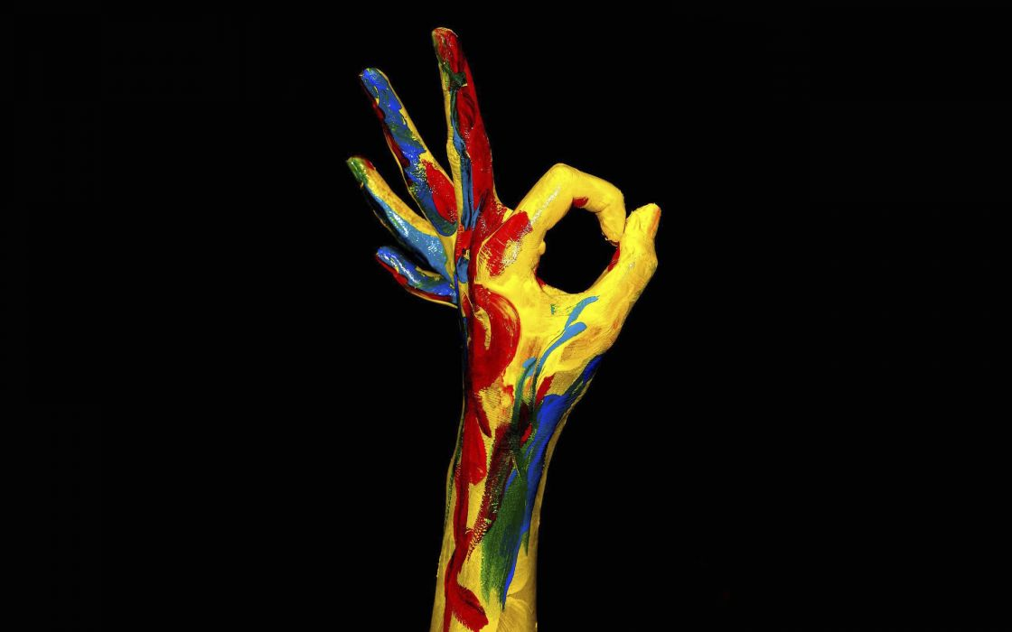 Multicolor hands wallpaper