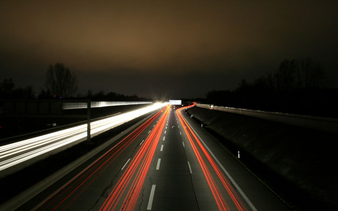 Roads long exposure wallpaper