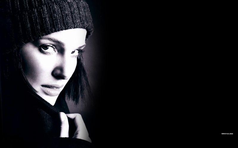 Women actress natalie portman monochrome greyscale wallpaper