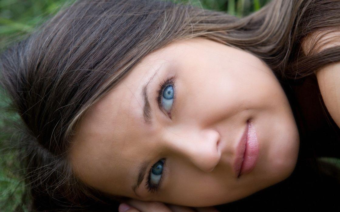 Women nature blue eyes chantelle a wallpaper