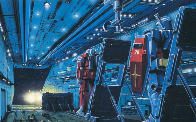 Outer space robots mecha wallpaper