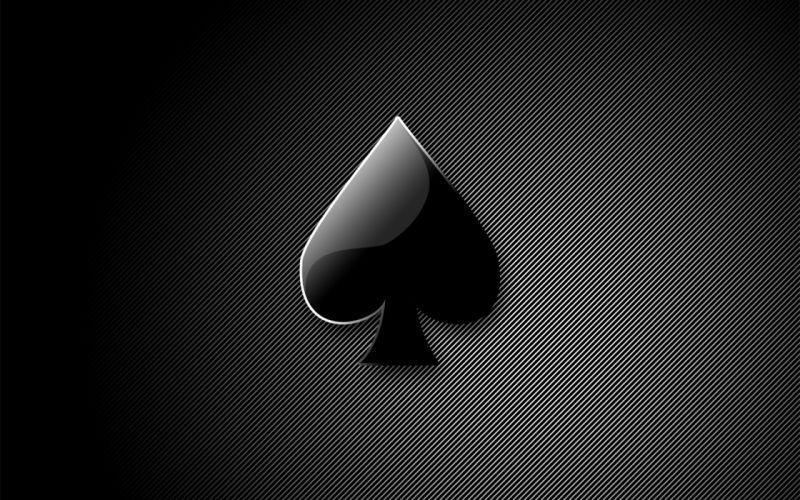 Cards black ace spade maverick wallpaper