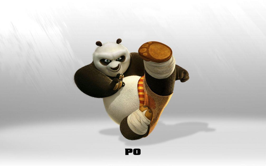 Cartoons movies panda bears kung fu panda po wallpaper