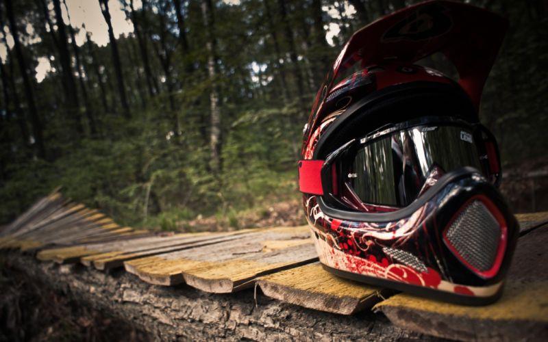 Motocross helmets wallpaper