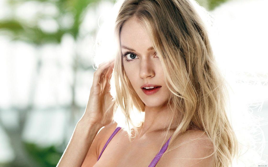 Lingerie blondes women underwear faces lindsay ellingson wallpaper