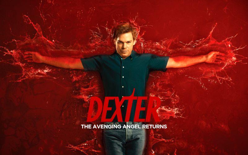 Dexter blood red background dexter morgan wallpaper