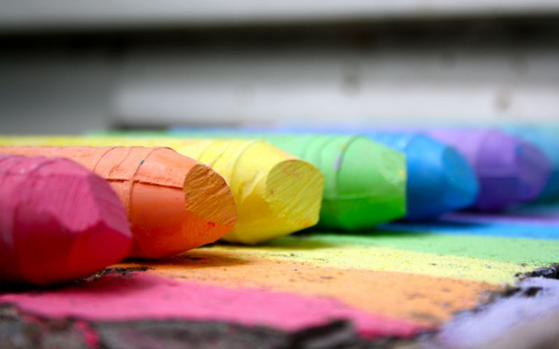 Spectrum crayons rainbows wallpaper