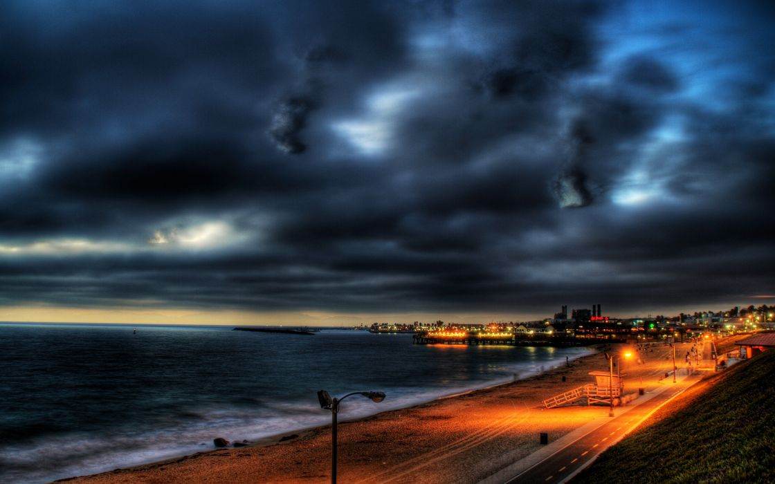 Night home los angeles skyscapes cities like redondo beach wallpaper