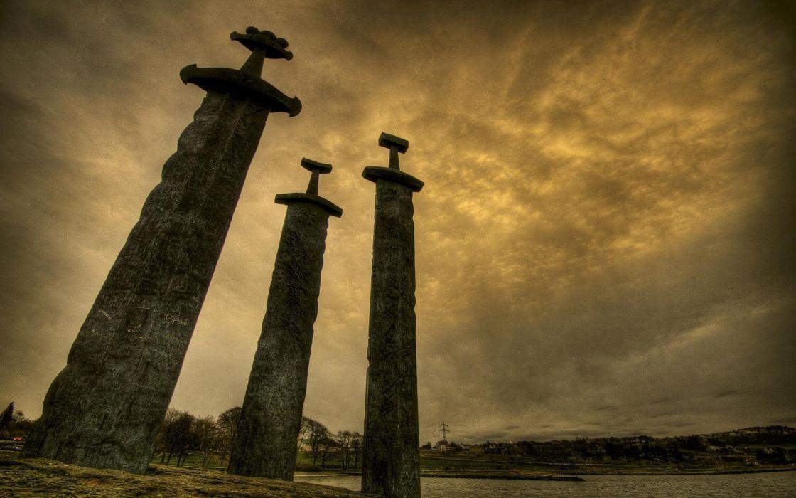 Norway swords stavanger viking swords hafrsfjord sverd i fjell wallpaper