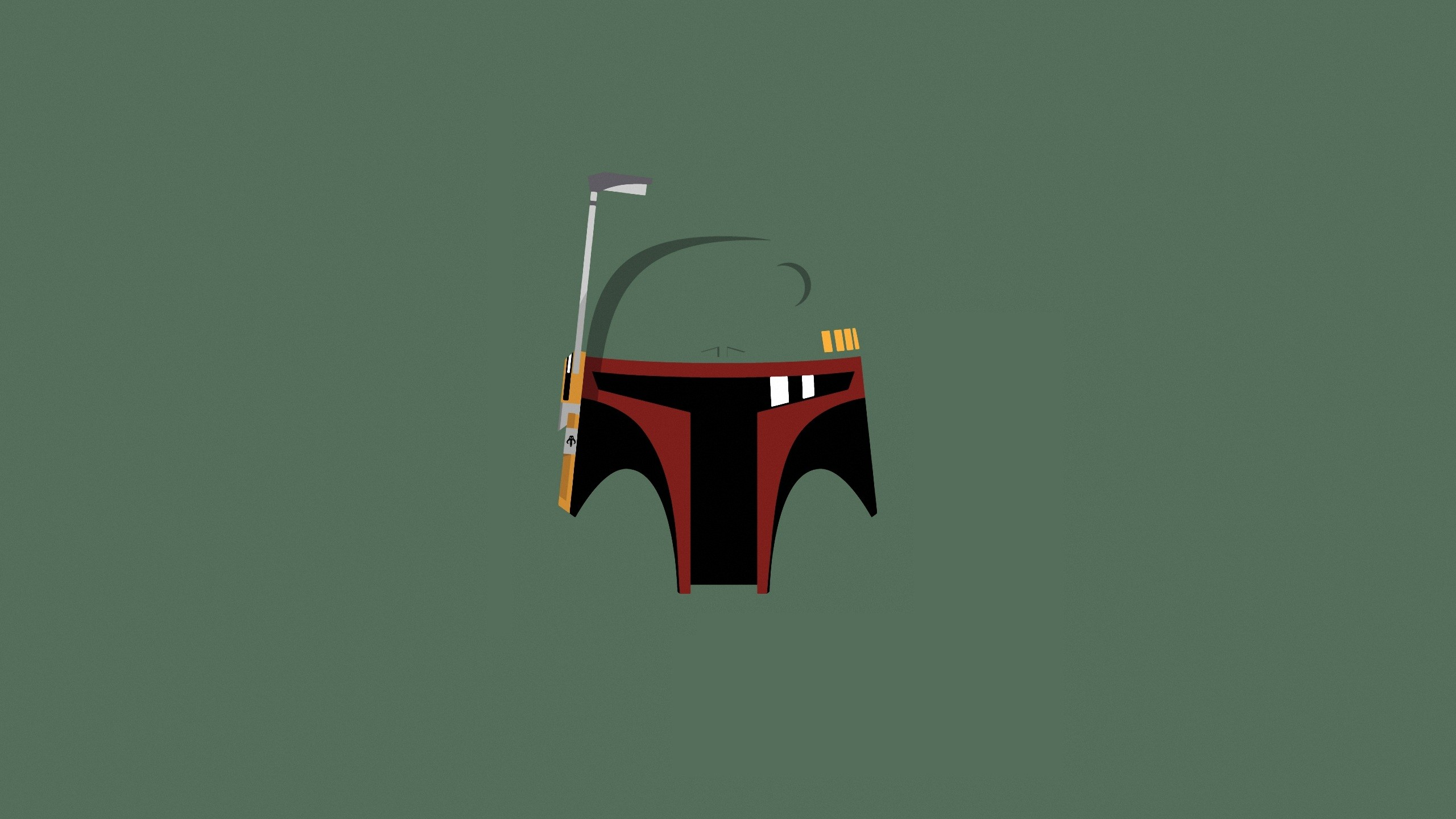 Star Wars Minimalistic Boba Fett Artwork Wallpaper