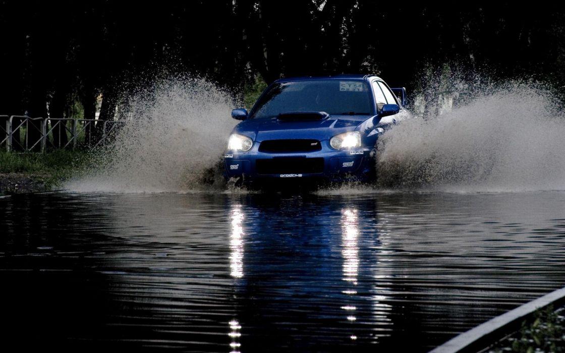Water cars subaru subaru impreza wrx jdm splashes wallpaper