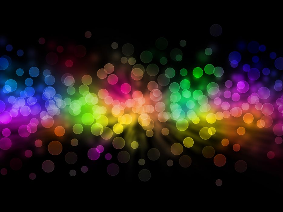 Abstract multicolor circles bokeh wallpaper