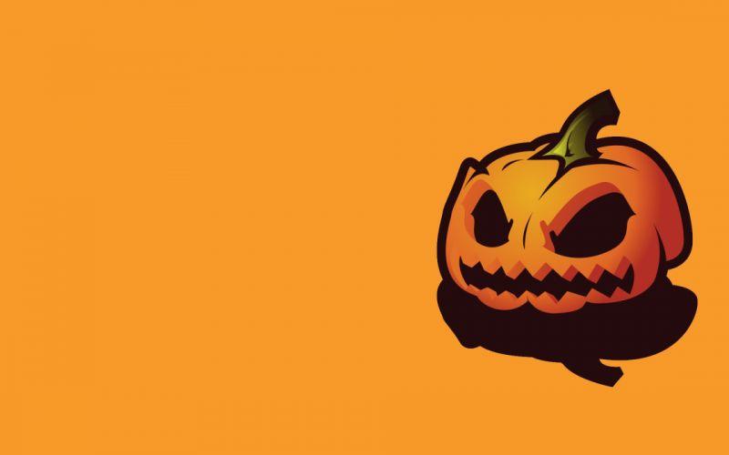 Orange halloween pumpkins wallpaper