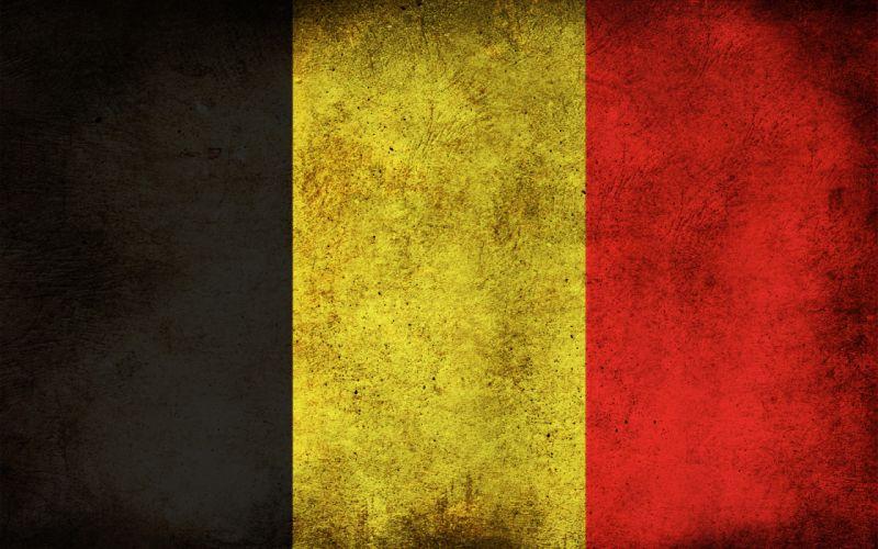 Grunge flags belgium wallpaper