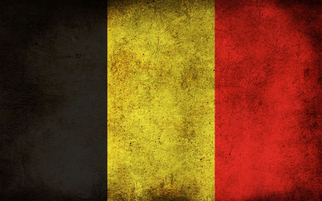 Grunge flags belgium wallpaper