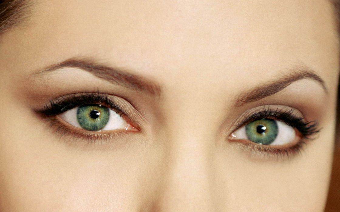 Up eyes actress angelina jolie celebrity green eyes wallpaper