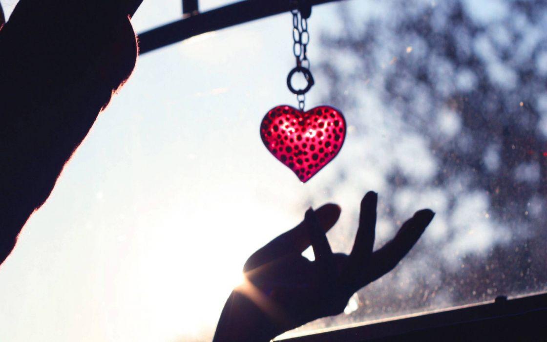 Window hearts wallpaper