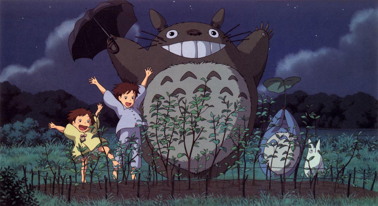 Cartoons hayao miyazaki totoro animation my neighbour totoro artwork studio ghibli anime manga wallpaper