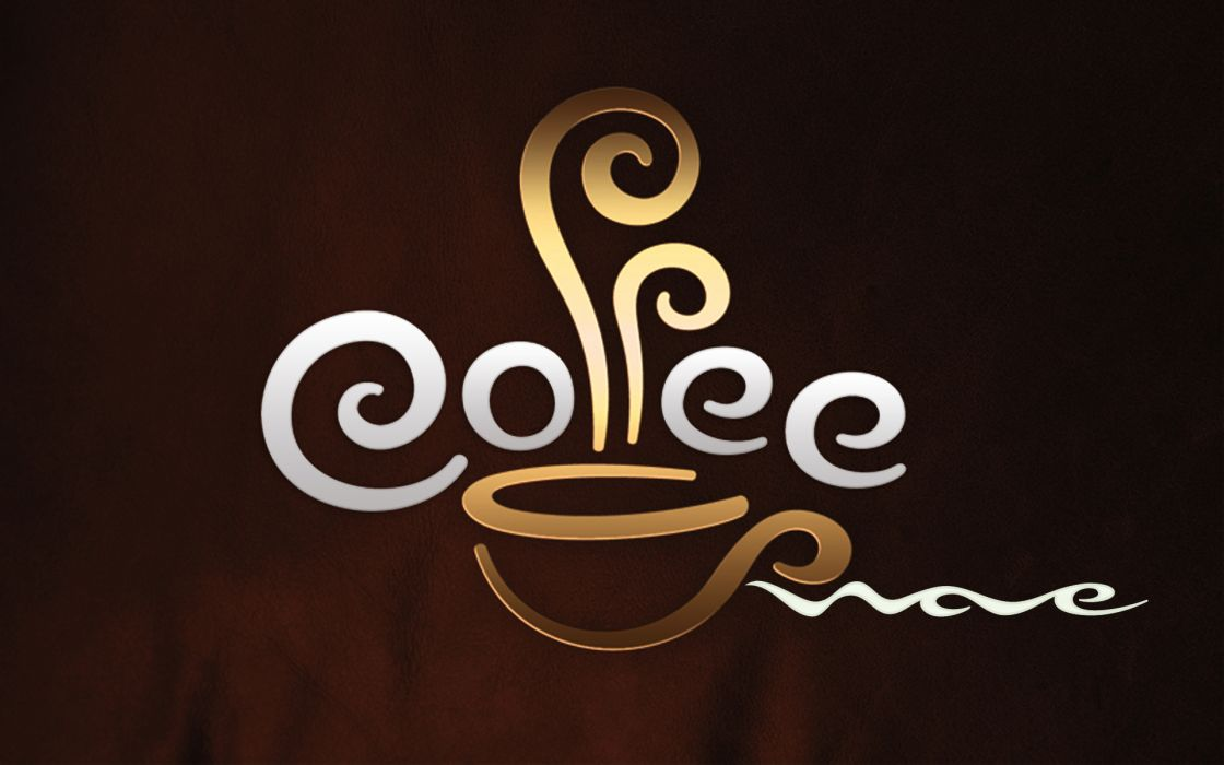 Coffee typography wallpaper