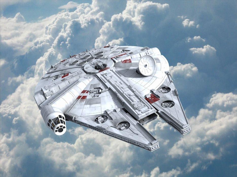 Star wars millenium falcon science fiction artwork starship wallpaper