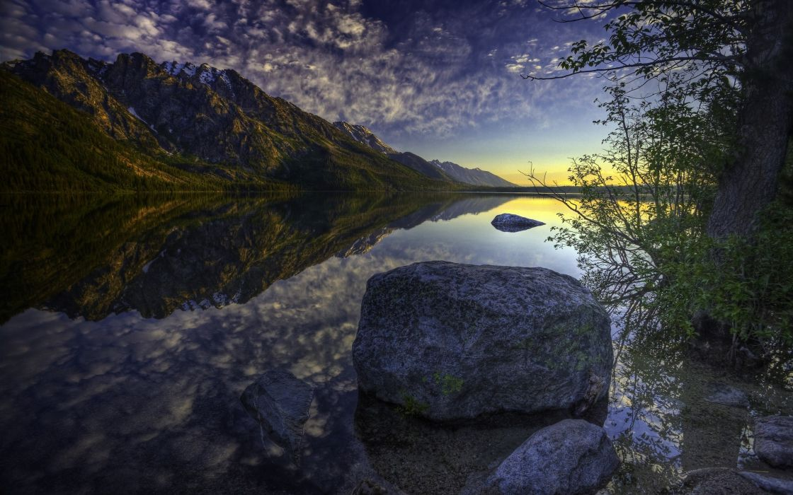 Mountains landscapes nature hdr photography reflections wallpaper