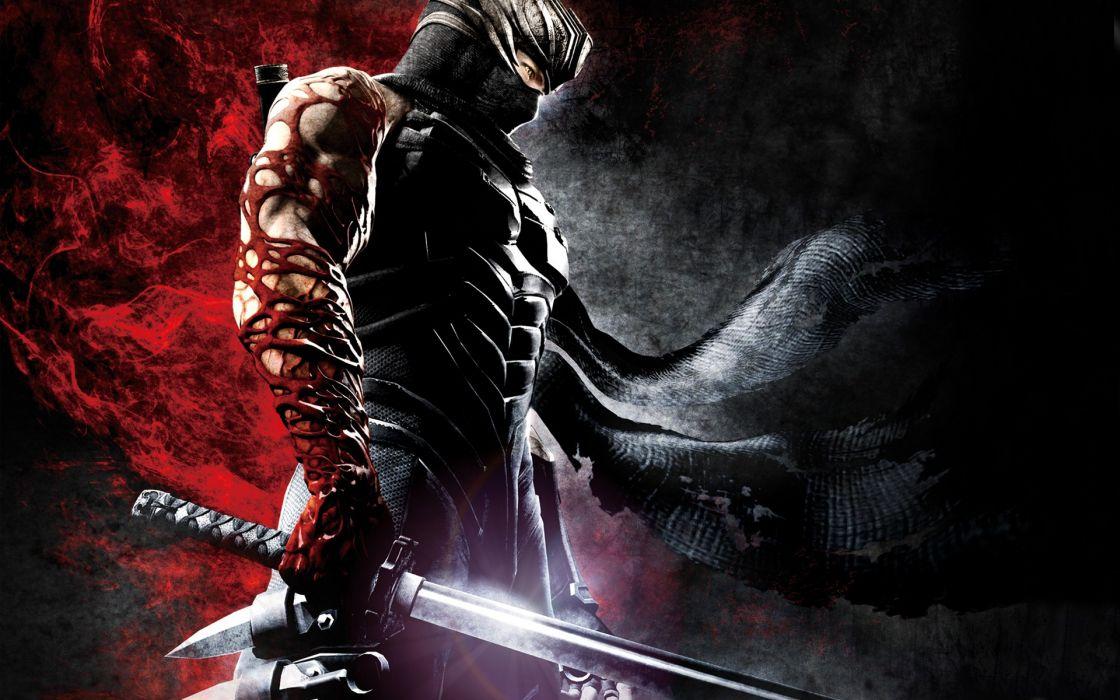 Blood katana ninja gaiden shuriken ryu hayabusa infection wallpaper
