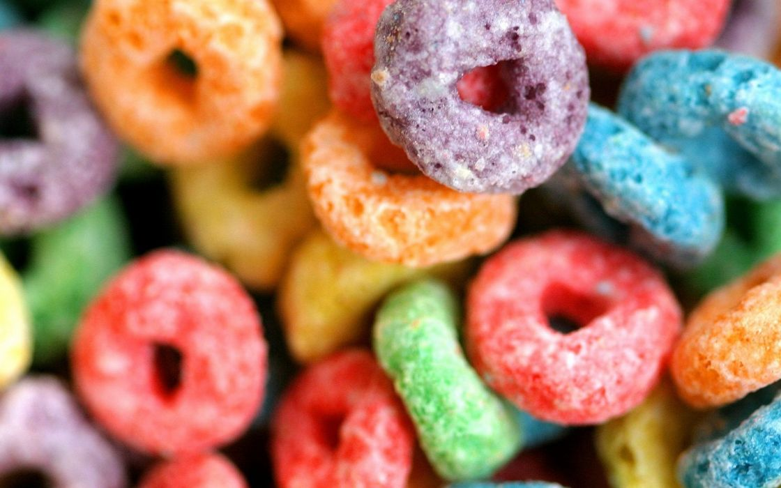 Candy fruit loops cereal wallpaper
