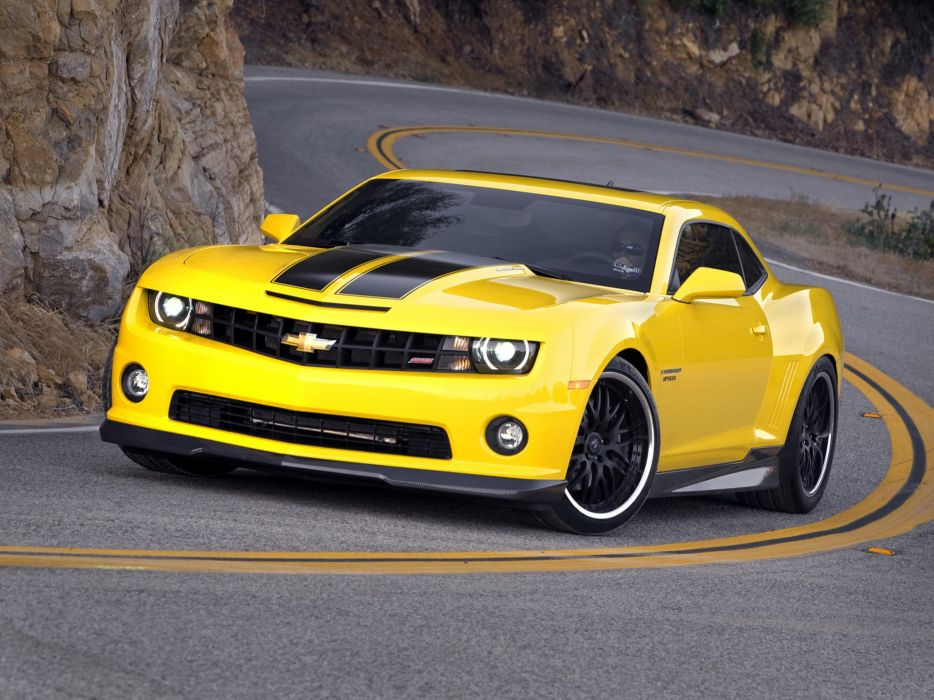 Yellow cars muscle cars roads chevrolet camaro driving wallpaper