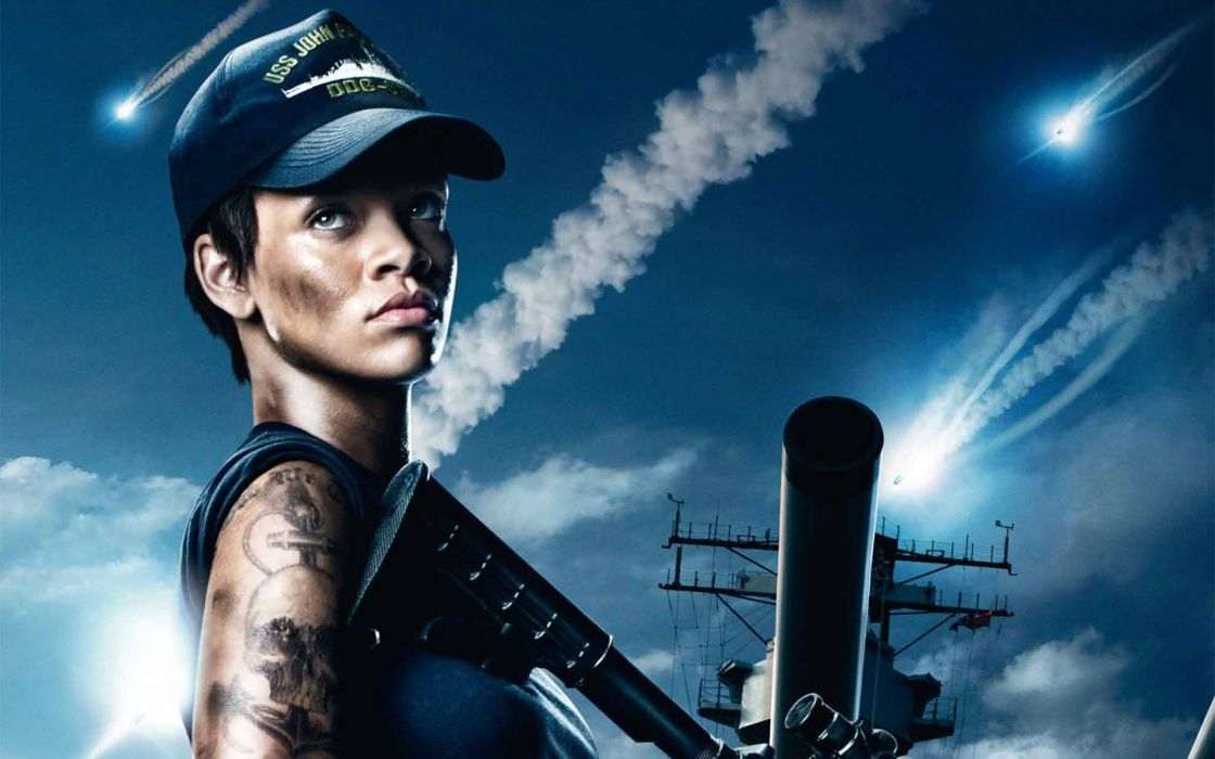 Movies actress rihanna people celebrity battleship girls with guns singers skyscapes wallpaper