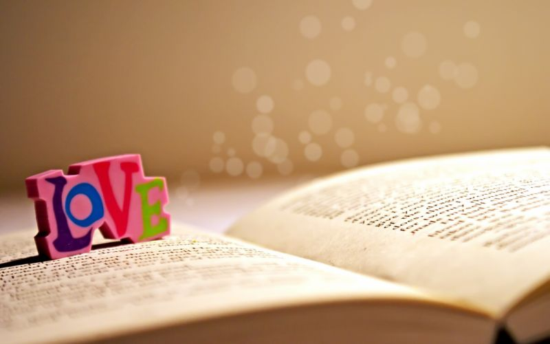 Love multicolor books sunlight colorsplash wallpaper