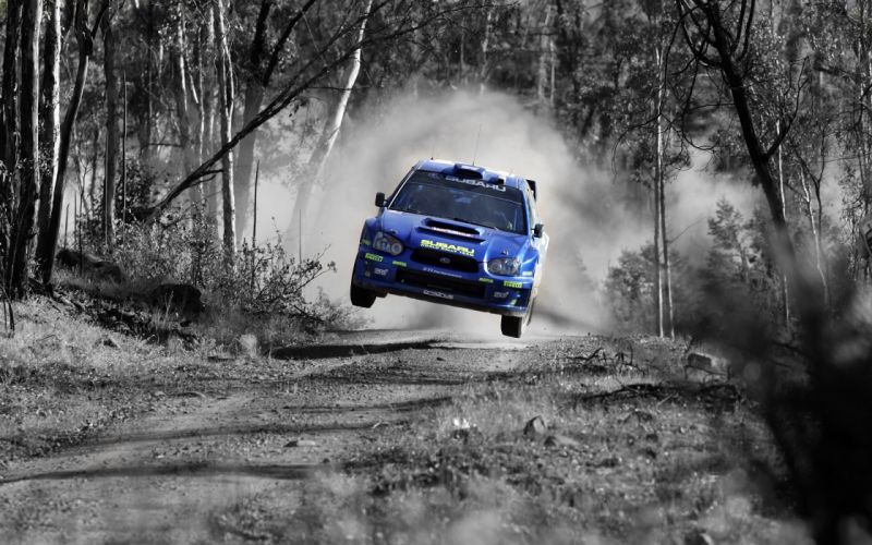 Cars jumping rally subaru impreza wrc selective coloring rally cars wallpaper