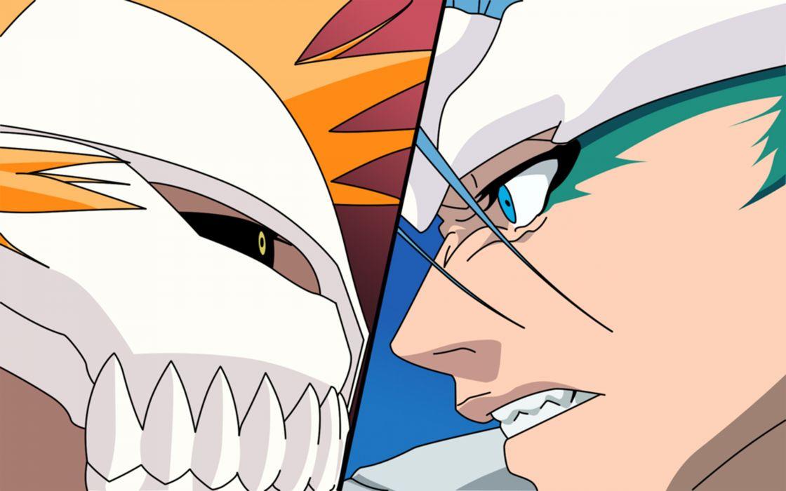 Bleach kurosaki ichigo vector espada grimmjow jaegerjaquez hollow ichigo pantera wallpaper
