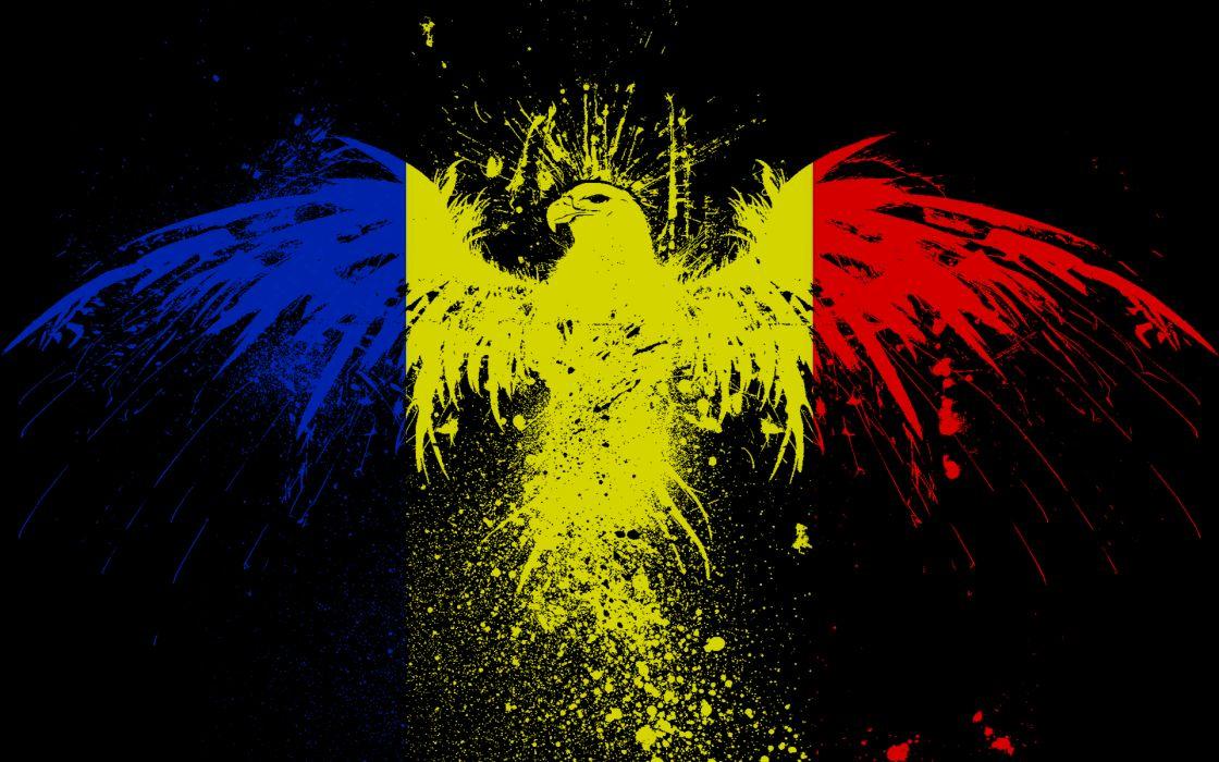 Eagles flags romania wallpaper