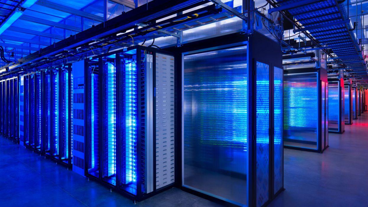 Data center server rooms wallpaper