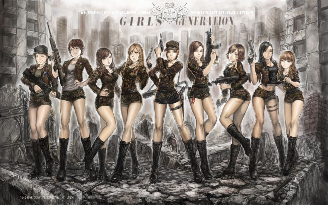 Girls generation snsd anime girls wallpaper
