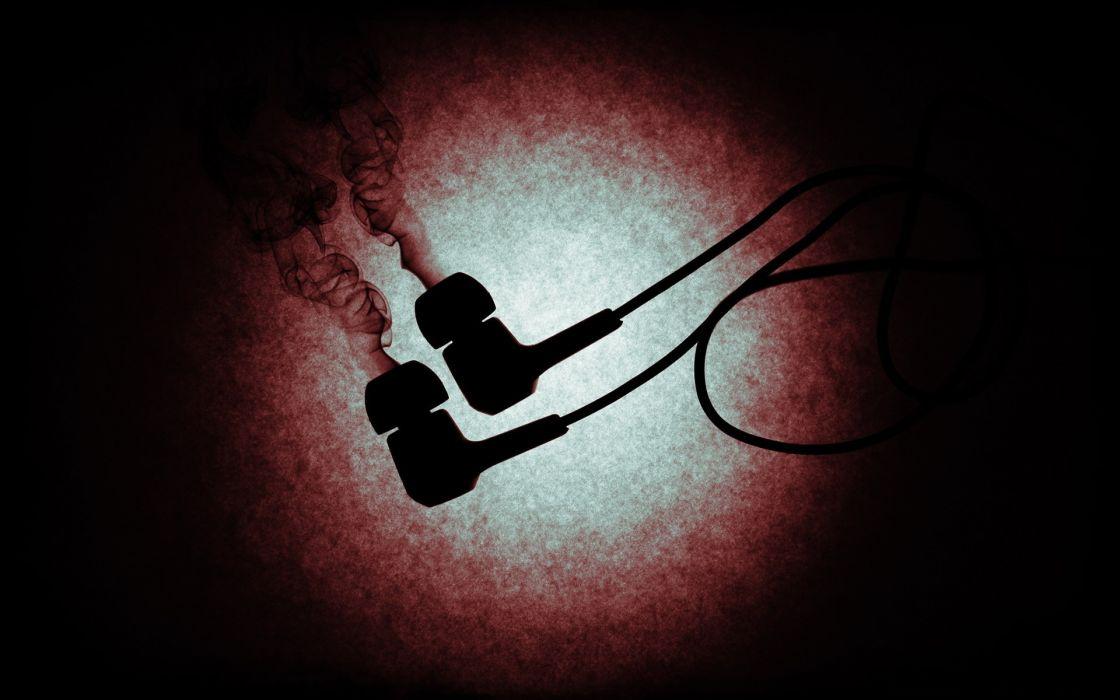 Smoke earphones wallpaper