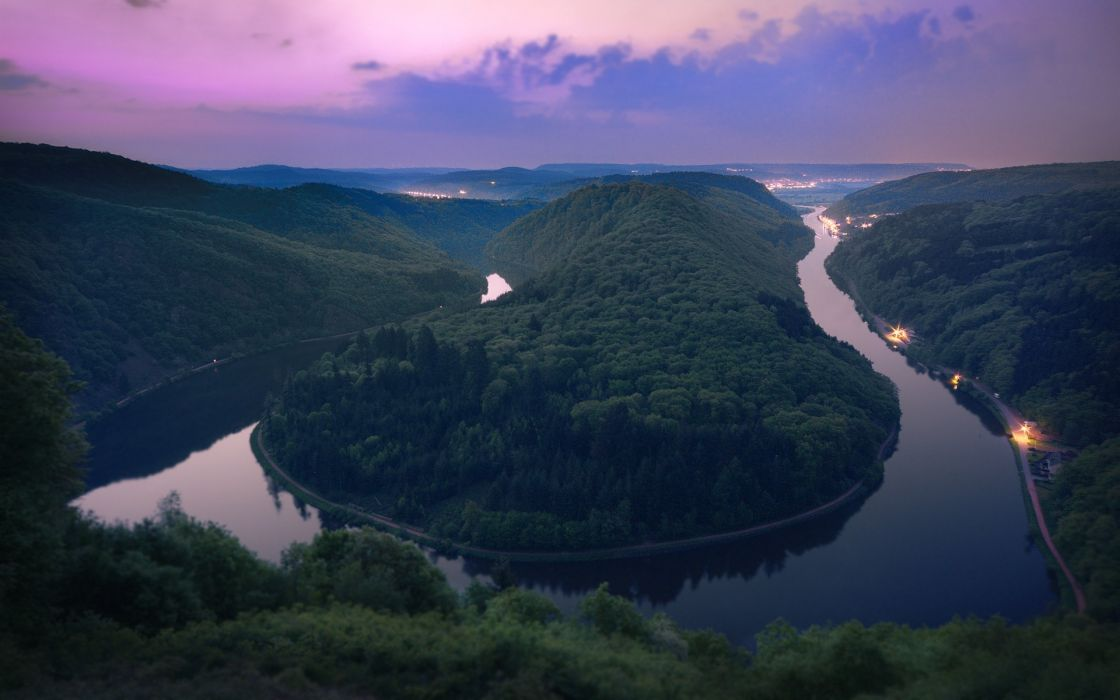 Landscapes nature rivers saarschleife wallpaper