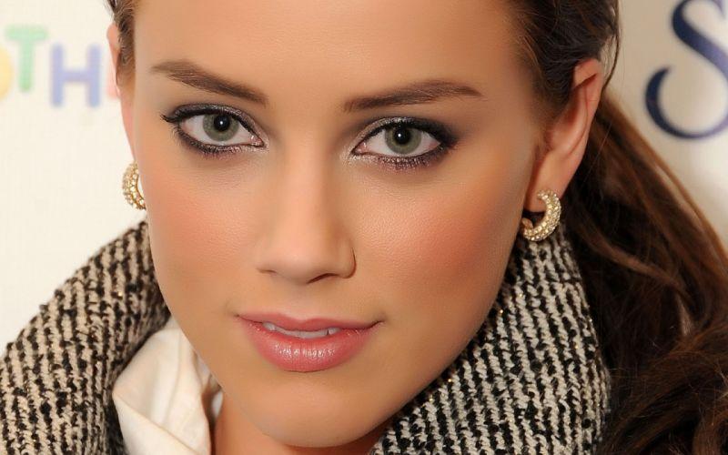Women actress amber heard faces wallpaper