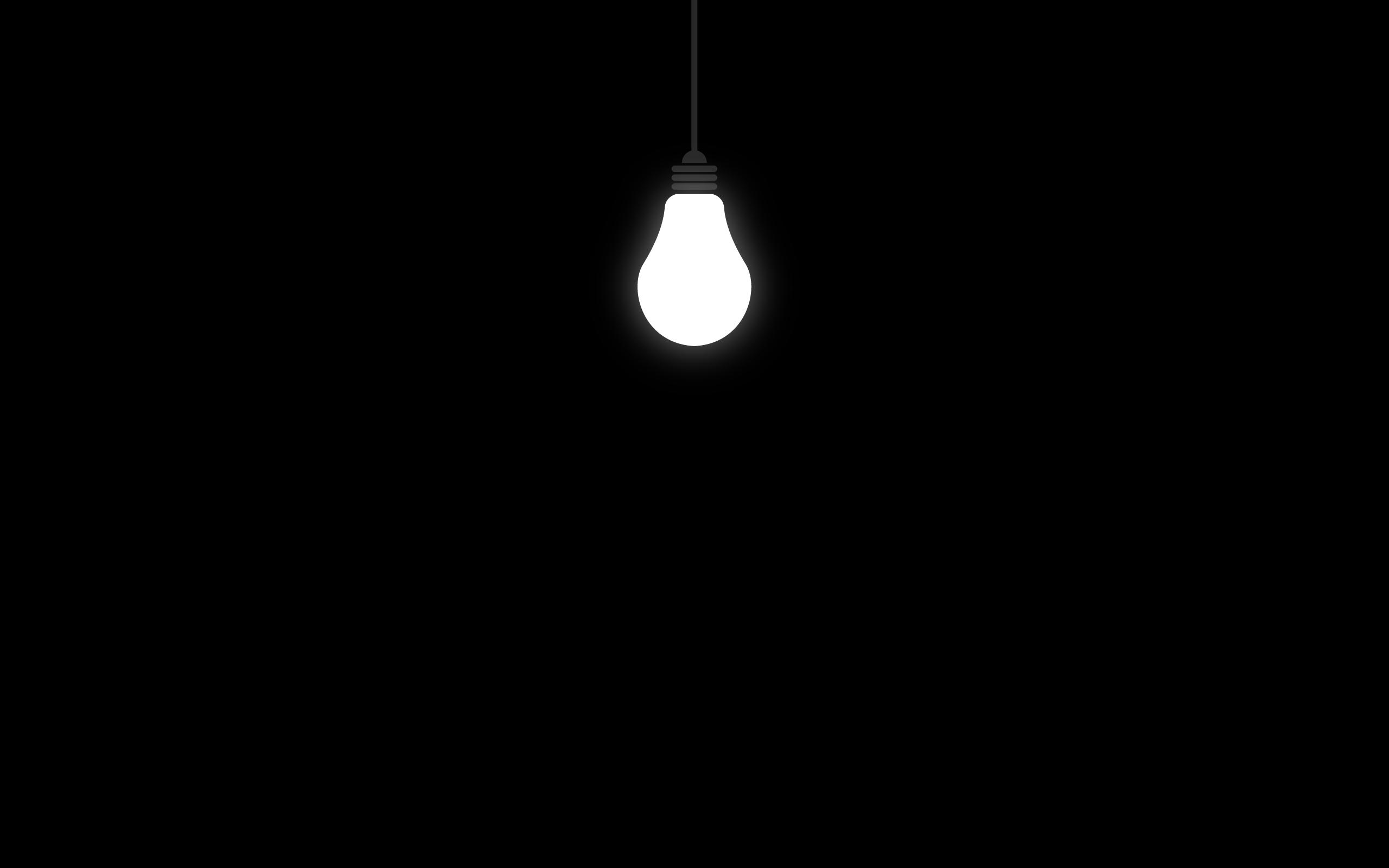 Black light bulbs black background ...