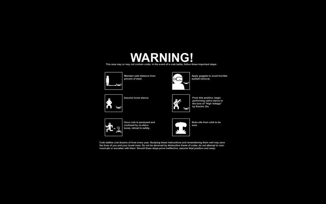 Poster warning battles crabs wallpaper
