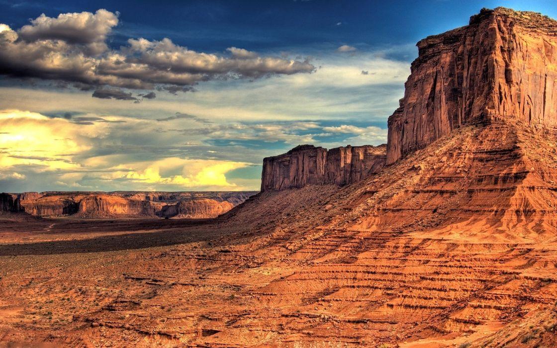 Mountains clouds landscapes nature rock desert rocks canyon overcast mesas wallpaper