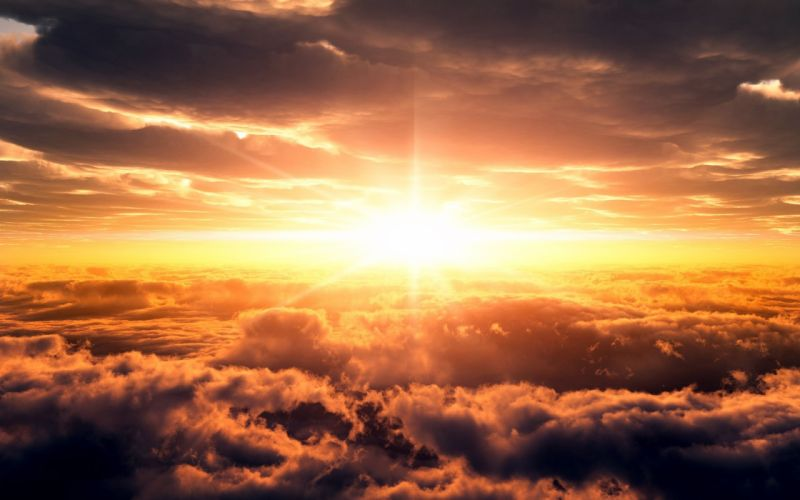 Sunset clouds landscapes skyscapes wallpaper
