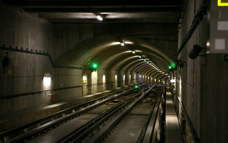 Subway underground tunnel railroad tracks wallpaper