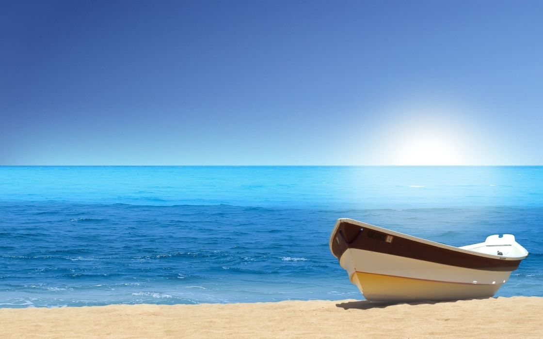 Beach ships vehicles wallpaper