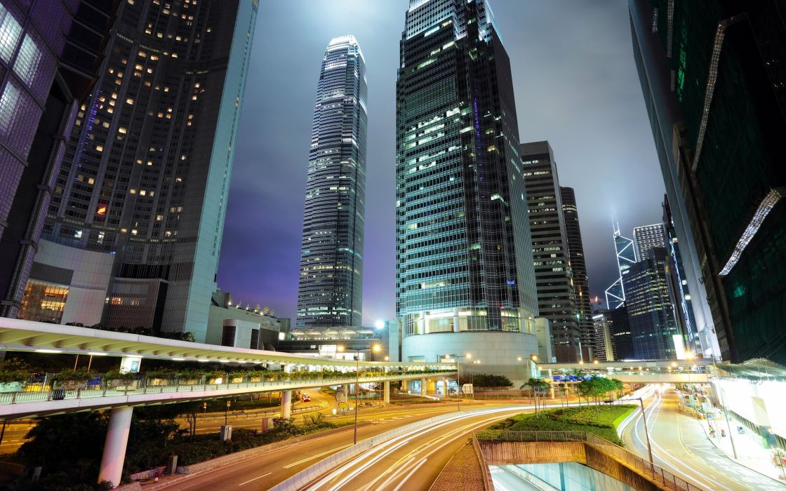 Cityscapes buildings hong kong skyscrapers cities wallpaper