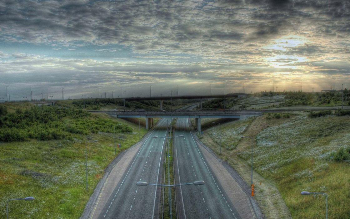 Highway roads motorway wallpaper