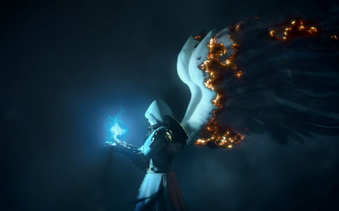 Light angels video games wings fire heroes magic heroes of might and magic vi might burn wallpaper